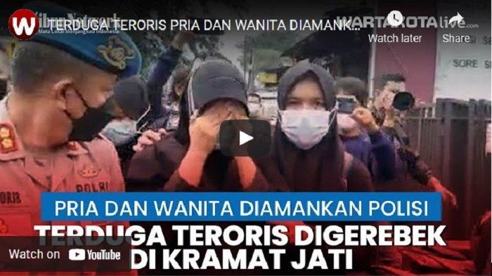 VIDEO Seorang Pria dan Wanita di Condet Kramat Jati Terduga Teroris Diamankan Polisi