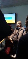 FA, terduga teroris yang ditangkap tim Densus 88 Antiteror dari Mabes Polri begitu mendarat di Bandara Soekarno-Hatta sepulangnya dari Turki. (istimewa)