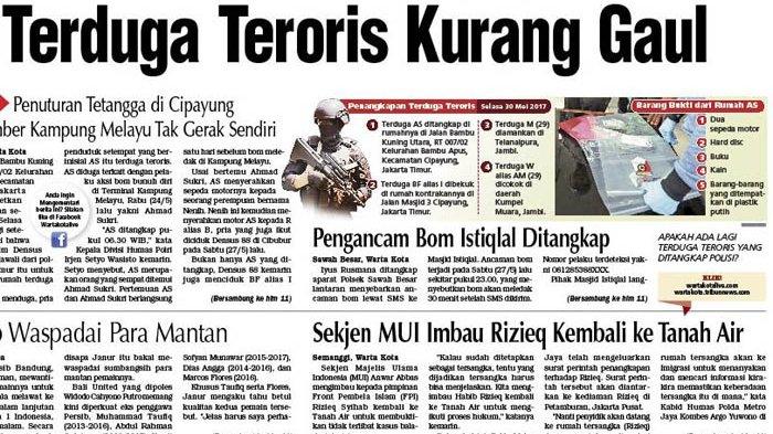 Terduga Teroris Kurang Gaul