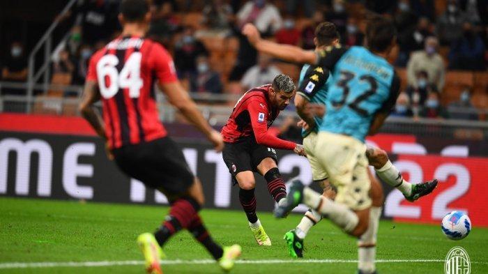 Petik 3 Poin Lawan Venezia 2-0, AC Milan Tempel Inter di Klasemen, Theo Hernandez Bintang Lapangan