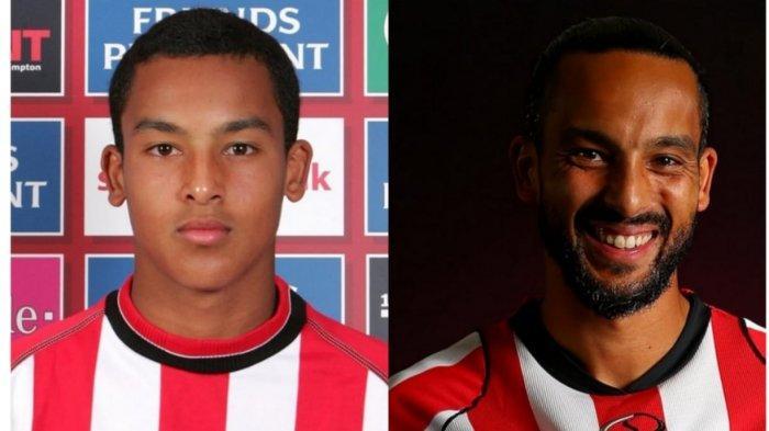 Theo Walcott saat menjadi pemain Southampton remaja dan sekarang
