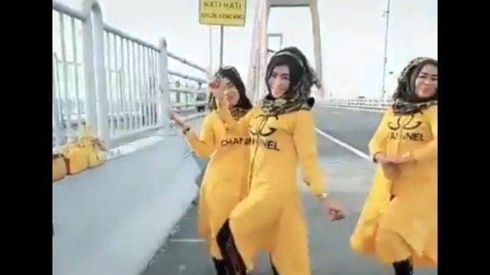 Tiga Wanita Tambak Gringsing Surabaya Bikin Sensasi di Jembatan Suramadu, Polisi Tingkatkan Patroli
