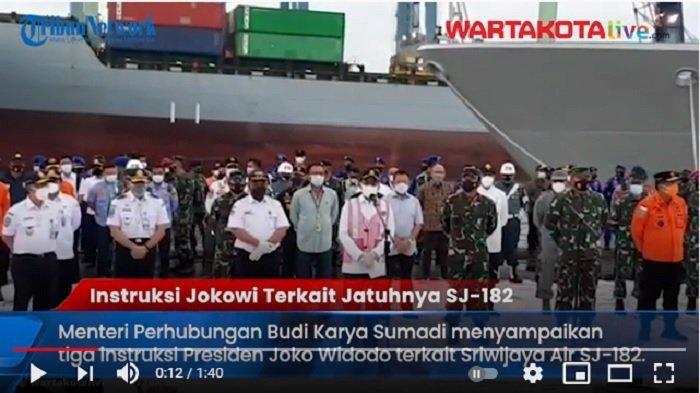 VIDEO INI Tiga Instruksi Presiden Jokowi Terkait Tragedi Jatuhnya Pesawat Sriwijaya Air SJ 182