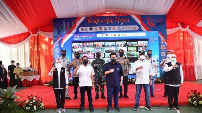 Kepala Korlantas Polri Dampingi Tiga Menteri Tinjau Vaksinasi Massal di Jateng dan Jatim