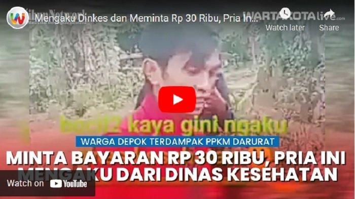 VIDEO Tiga Pria Mengaku Petugas Dinkes dan Meminta Uang Rp 30 Ribu untuk Cek Kesehatan Warga