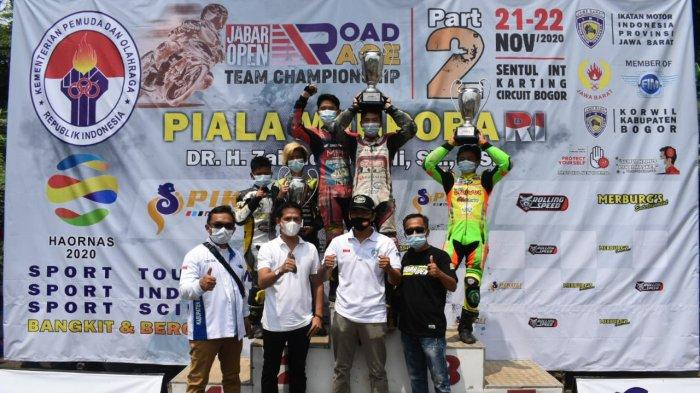 Tim Balap Motor Kabupaten Bogor Tampil Mentereng di Jabar Open Road Race Seri 2 2020