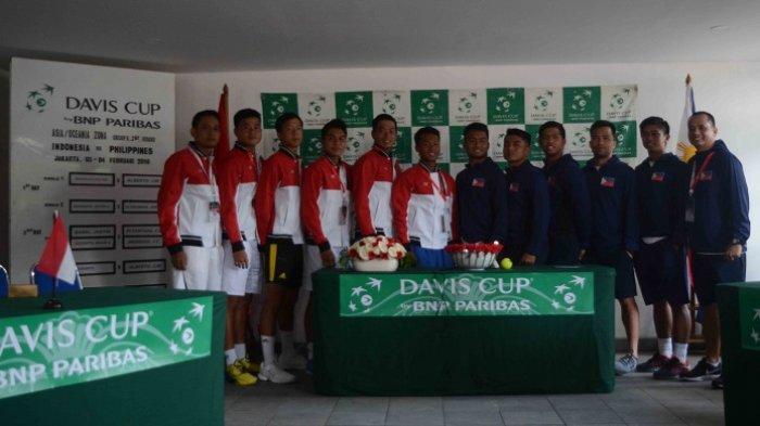 Pertandingan Piala Davis Indonesia Vs Filipina Tayang di TVRI