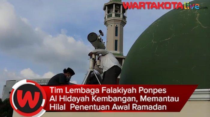 VIDEO: Begini Pemantauan Hilal 1 Ramadhan Oleh Tim Lembaga Falakiyah Pesantren Al Hidayah Kembangan