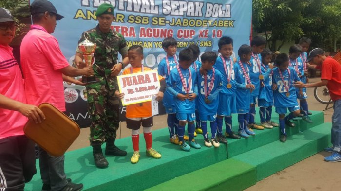 Mencari Bibit Unggul Masa Depan di Festival Sepak Bola Antar SSB Se-Jabodetabek Putra Cup X