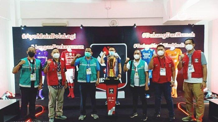 Tim Pendamping Prokes Kemenkes Sambangi Stadion Maguwoharjo untuk Pantau Pelaksanaan Piala Menpora