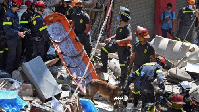 Masih Sekitar 100 Orang Belum Diketahui Nasibnya akibat Ledakan Maha Dahsyat di Beirut