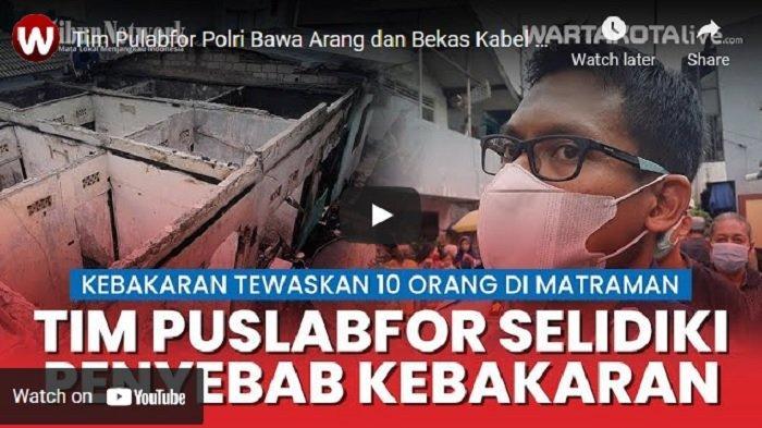 VIDEO Tim Puslabfor Bawa Arang dan Bekas Kabel Selidiki Penyebab Kebakaran di Matraman