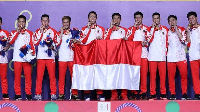 SEA Games 2019: Kalahkan Malaysia 3-1, Tim Putra Bulu Tangkis Indonesia Raih Medali Emas