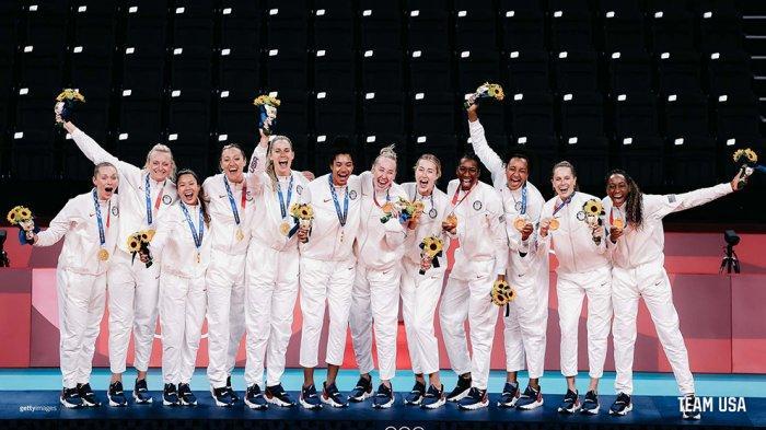 Kontingen AS memastikan juara umum Olimpiade Tokyo setelah berhasil merebut medali emas di cabor voli putri setelah mengalahkan Brasil di final.