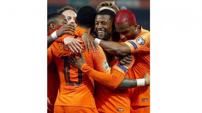 Hasil Pertandingan Pertama Babak Kualifikasi Grup Pila Eropa 2020, Belanda Menang 4-0 Atas Belarusia