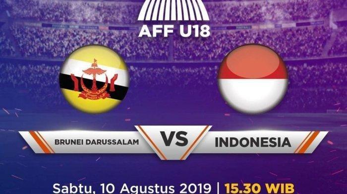 Live Timnas U18 Indonesia  vs Barunei Darussalam, Timnas Indonesia Unggul 1-0 di Babak Pertama