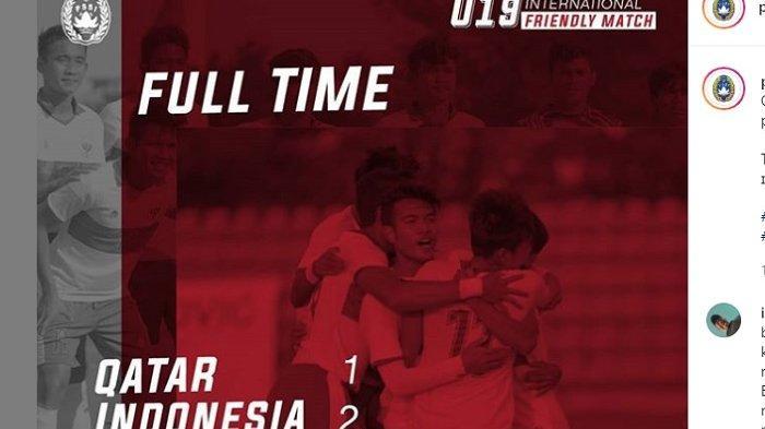 Timnas U-19 Indonesia Taklukkan Qatar 2-1, Brylian Aldama dan M Supriadi Sumbang Gol
