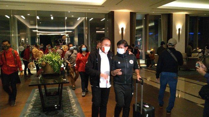 Timnas Indonesia U-19 Tiba Tanah Air dengan Mengenakan Masker KN95