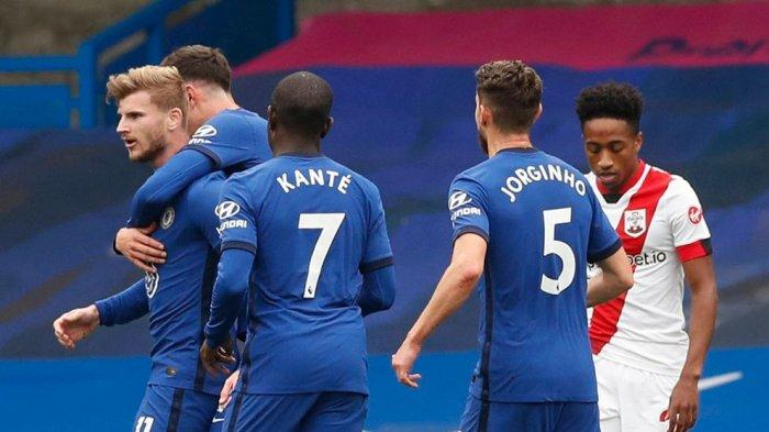 Hasil Babak Pertama: Chelsea Unggul 2-1 atas Southampton, Brace Dari Timo Werner