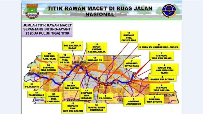 23 Titik Kemacetan di Kabupaten Tangerang Butuh Penanganan Khusus
