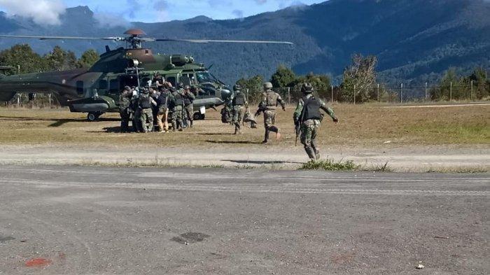 Saat Pengamanan di Bandara Dekai 2 Anggota TNI Tewas Dibacok OTK, Senjata Jenis SS2 Juga Dirampas