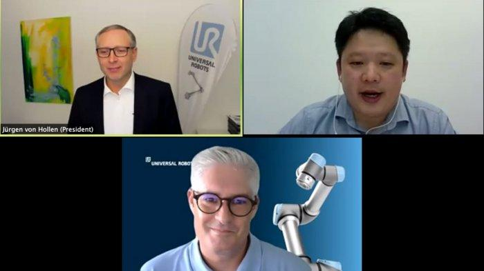 Para Pemimpin dan Praktisi Robot Kolaborasi (Cobot) Bertatap Muka Secara Online