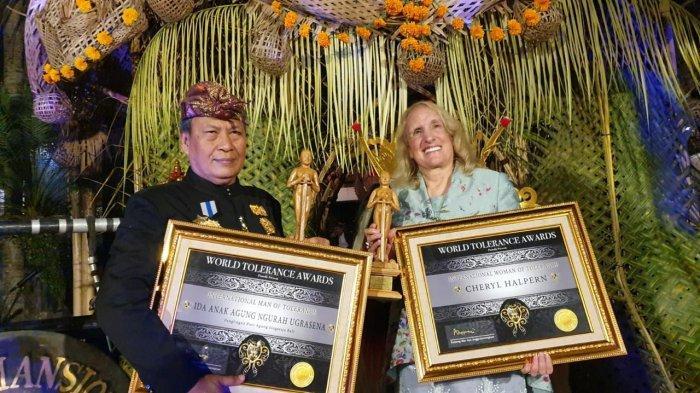 A.A Ugrasena dan Cheryl Halpern Raih Penghargaan International Persons Of Tolerance 2019