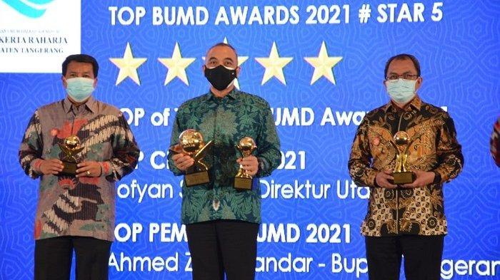 Pemkab Tangerang Borong Semua Penghargaan Bergengsi Top BUMD Award 2021