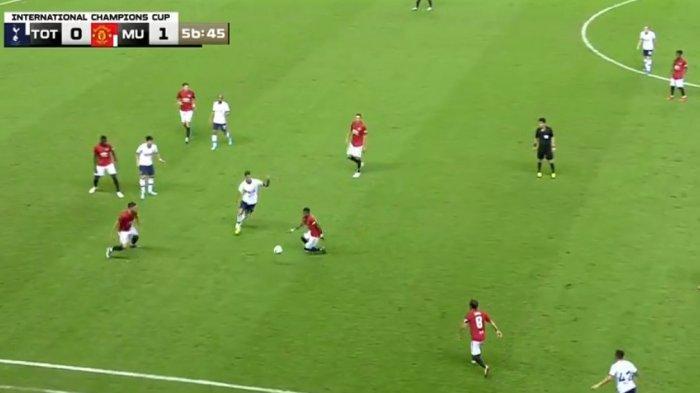 Manchester United Unggul Sementara 1-0 Lawan Tottenham Lewat Gol Martial, Nonton Via Live Streaming