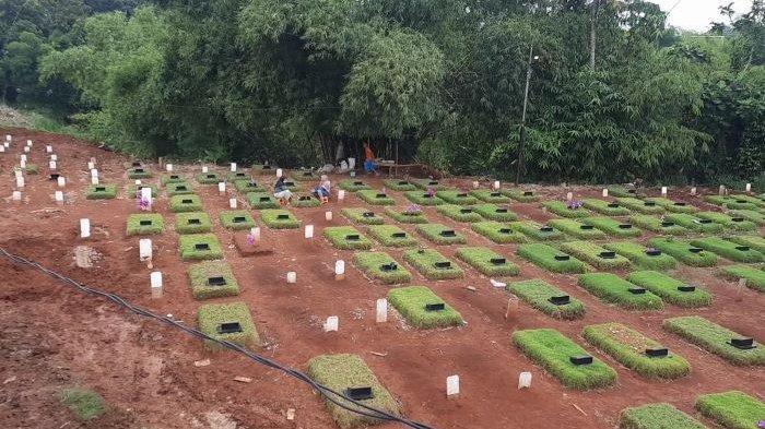 TPU Jombang Ciputat Terima Lonjakan Pemakaman Jenazah Covid-19 Hingga Tembus 506 Makam