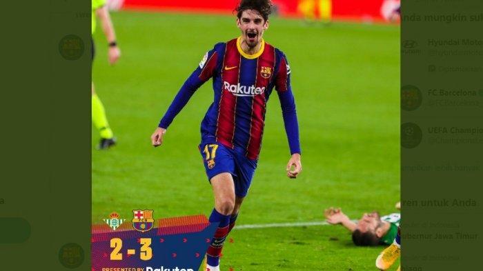 Hasil Real Betis vs Barcelona 2-3, dari Bangku Cadangan Messi Bangkitkan Kemenangan, Barca 2 Besar