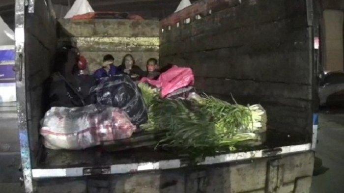 POLISI Tidak Main-main, Terjaring Razia saat Angkut Motor dan Pemudik  di Tangerang Truk Diamankan
