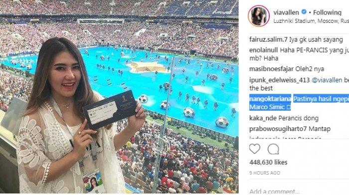 Via Vallen Ngamuk Disebut Bisa Tonton Final Piala Dunia 2018 Gara-Gara Fitnah Marko Simic Persija