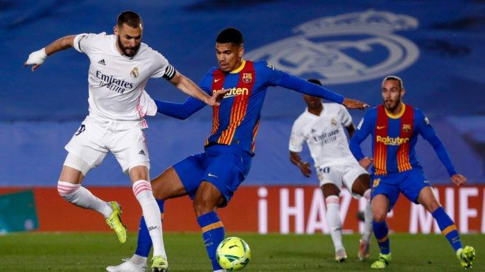Hasil Babak Pertama Real Madrid vs Barcelona 2-0, Barca Menguasai Laga, Serangan Madrid Lebih Tajam