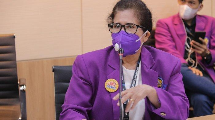 Erita Sitorus, Ners., M.Kep. selaku Ketua Program Studi Keperawatan Fakultas Vokasi UKI.