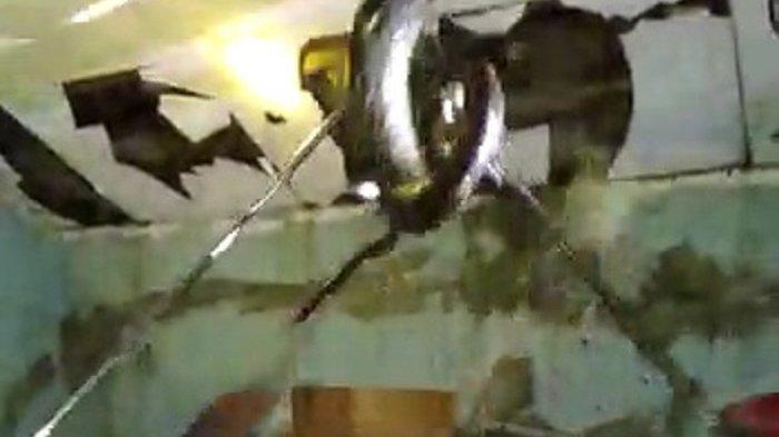 Ular Sanca 4 Meter Bersarang di Atap Rumah, Petugas Damkar Kota Tangsel Terpaksa Menjebol Plafon