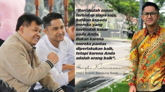 Bupati Bandung Barat Aa Umbara dan Anaknya Tersangka KPK, Hengky Kurniawan Siap Menggantikannya
