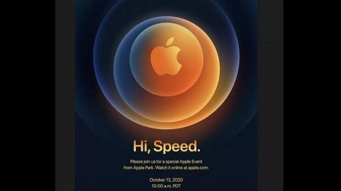 Undangan Apple Event tanggal 13 Oktober 2020 yang diperkirakan akan menjadi acara peluncuran iPhone 12.