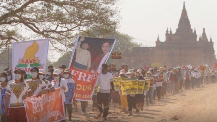 Junta Militer Myanmar Ancam Demonstran akan Kehilangan Nyawa jika Teruskan Aksi Mogok Nasional