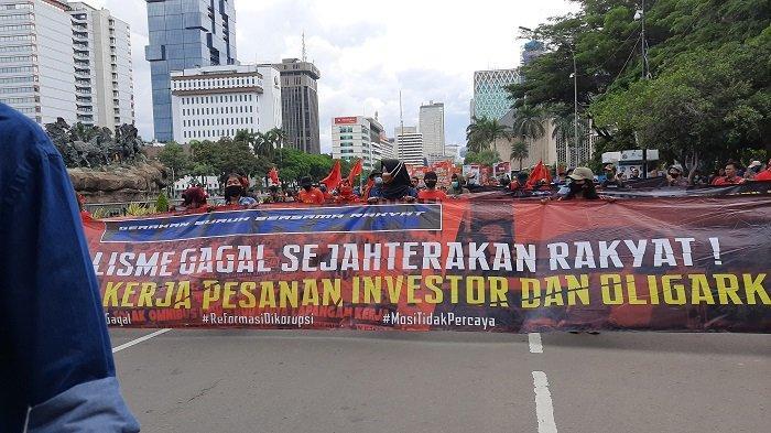 Polisi Mengaku Tengah Hubungkan Buruh dengan Istana Negara, Masih Tunggu Jawaban