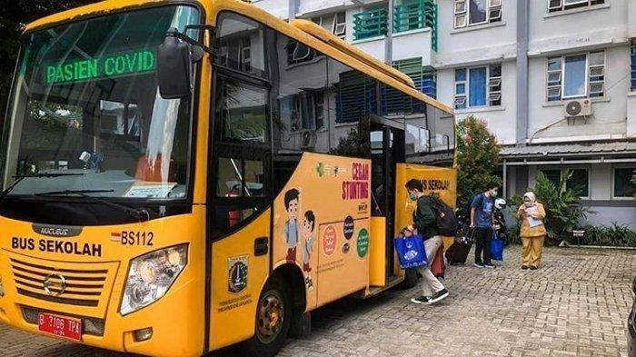 Bus Sekolah Kembali Beroperasi Melayani Pasien Covid-19