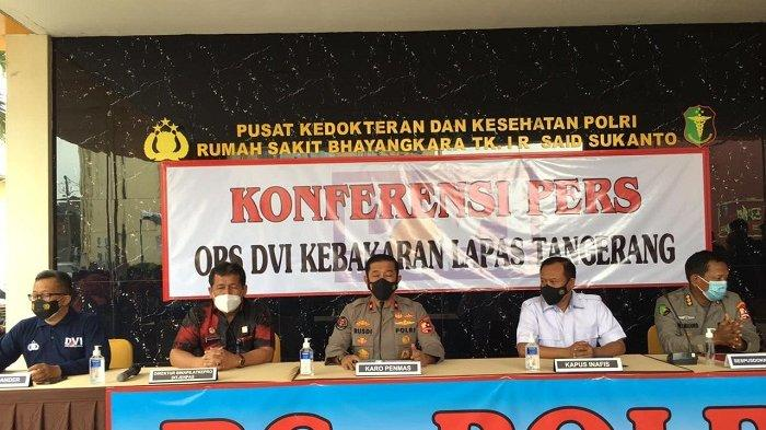 Cek Sidik Jari dan DNA, Tim DVI Polri Ungkap Identitas 3 Jenazah Korban Kebakaran Lapas Tangerang