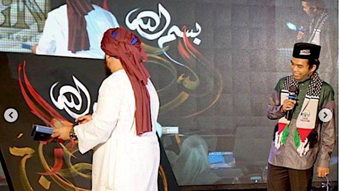 Lukisan Kaligrafi Ustaz Abdul Somad dan Ustaz Derry Sulaiman Laku Dijual Rp 110 Juta