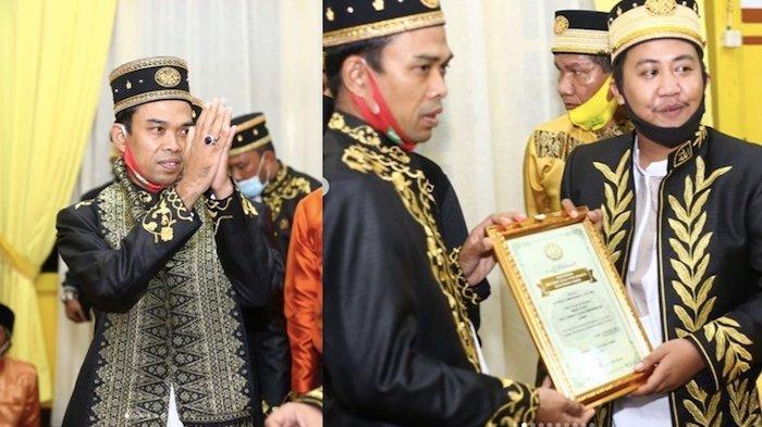 Ustaz Abdul Somad Dapat Gelar Imam dari Kesultanan Sambas Masih Turunan Brunei Darussalam