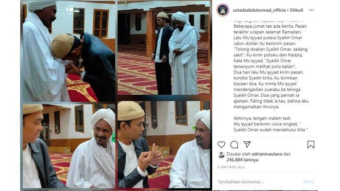 Ustaz Abdul Somad Berduka di Tengah Bulan Suci Ramadan, Gurunya Meninggal Dunia