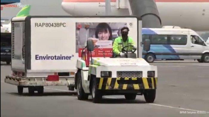 BREAKING NEWS: Vaksin Covid-19 Tahap Delapan Tiba di Bandara Soekarno Hatta