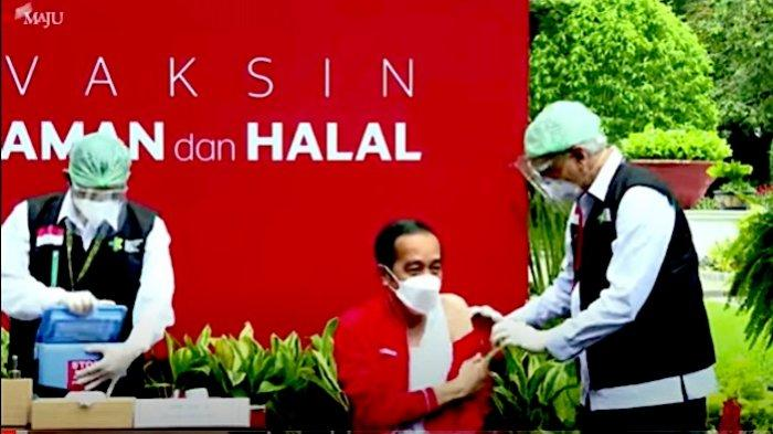 Jokowi: Target 182 Juta Penduduk Divaksin Covid-19 Harus Selesai Akhir Tahun Ini