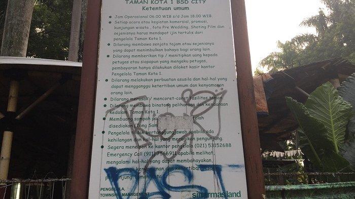 Aksi Vandalisme Merusak Fasilitas di Taman Kota 1 BSD Tangerang