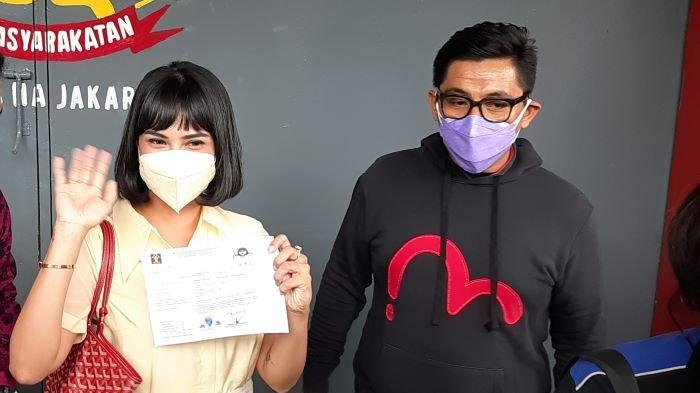 Vanessa Angel senang dan bersyukur setelah bebas murni, Senin (18/1/2021). Vanessa Angel menerima surat bebas murni di Lapas Pondok Bambu, Duren Sawit, Jakarta Timur.