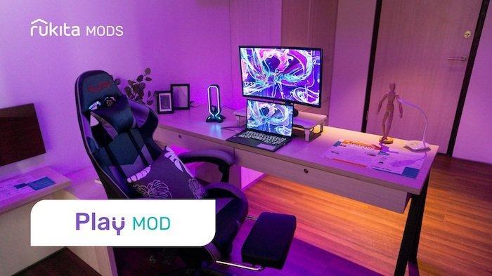 Tiga varian Rukita Mods yang merupakan fitur terbaru dari Rukita dimana penghuni dapat memilih kamar dengan berbagai fasilitas tambahan untuk menunjang kebutuhan maupun hobi